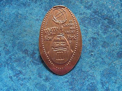 M&M'S WORLD NEW YORK IN CANDY WE TRUST COPPER Elongated Penny Pressed Smashed 25