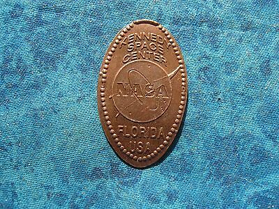 KENNEDY SPACE CENTER NASA FLORIDA USA COPPER Elongated Penny Pressed Smashed 25