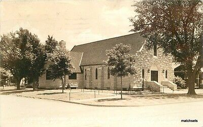 1943 Abilene Kansas St John Episcopal Church RPPC real photo postcard 5267