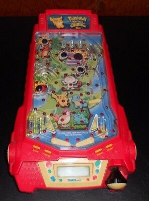 Pokemon Thunder shock challenge pin ball game electronic led 1998 TIGER toy