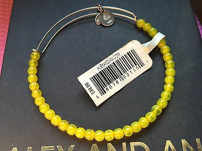 NWT ALEX and ANI Yellow ASSORTED VINTAGE BEADED SINGLES Silver Bangle BRACELET
