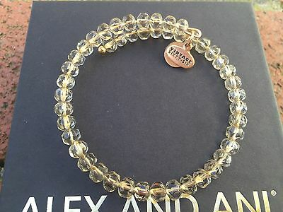 NEW ALEX and ANI Russian GOLD MOSS GLEAM Crystal Beaded Bangle BRACELET