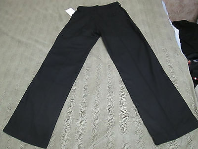 "Chef Works Own The Kitchen Straight Leg Black Pants Size Xs 31"" Inseam New"