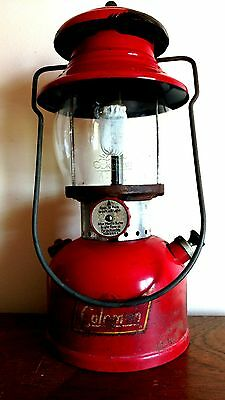 Very Nice Vintage 1958 Coleman Model 200A Red Lantern Single Mantle Untested