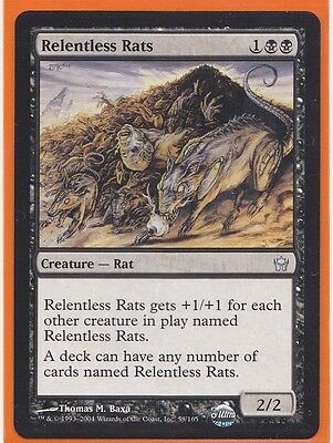 MTG Magic  Fifth (5th) Dawn 4 x RELENTLESS RATS Uncommon card Never Played HOT