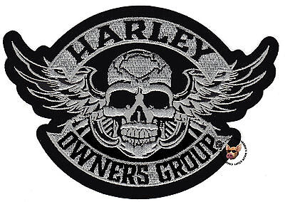 Hog Winged Skull Vest Patch 5 Inch Harley Davidson Owners Group Small