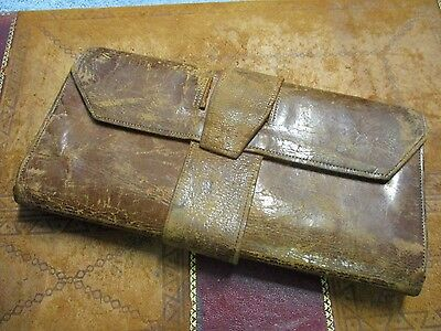 1828 Fayette County Kentucky leather Wallet or Billfold A.A. Hotchkiss Watertown