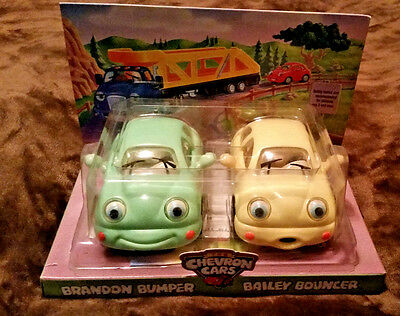1999 Chevron Collectible  Cars 'twosies!' *brandon Bumer & *bailey Bouncer ~New!