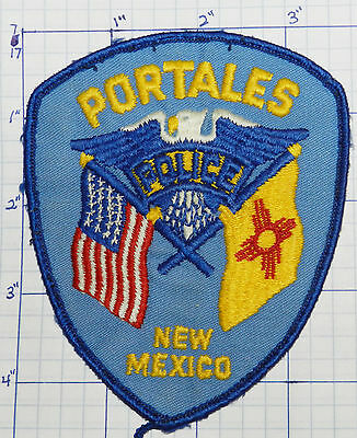 New Mexico, Portales Police Dept Vintage Patch