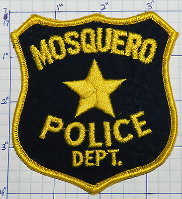 New Mexico, Mosquero Police Dept Dark Blue Patch