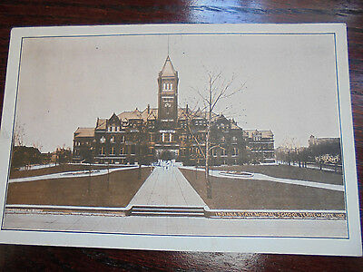 antique 1907 Indiana State Normal School Terre Haute, Indiana postcard