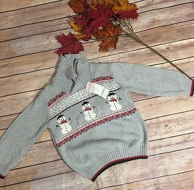 Gymboree 2T Christmas Sweater Boys Snowman New With Tags