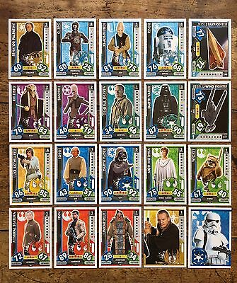 Star Wars - Force Attax 2017 (TOPPS collector cards) 20 x Cards Mixed Lot #12.