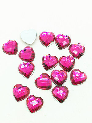 New 200pcs Resin Faceted Heart Crystal 6mm Flatback For DIY Phone Crafts Rose #3