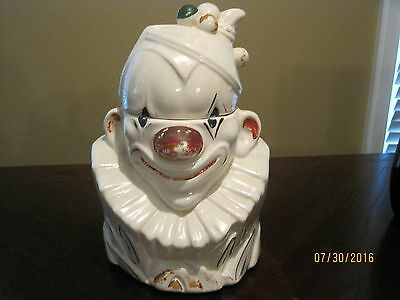 Awesome McCoy Clown Cookie Jar, Original Paint, Made in USA, Vintage 40's