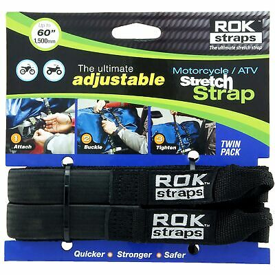 Oxford HD 25mm Adjustable Black Rok Straps - Motorbike / Luggage