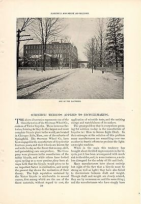 4 Page 1895 Victor Overman Bicycle Ad-Scientific Bicycle Making