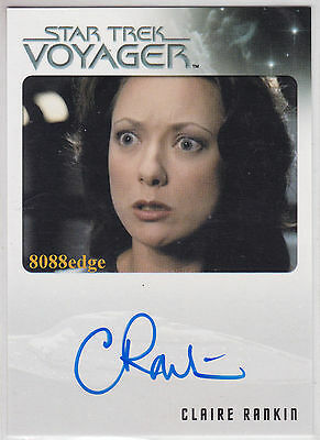 2015 Star Trek Voyager Auto: Claire Rankin/alice -Autograph Charmed/outer Limits