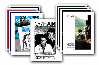 WHAM / GEORGE MICHAEL  - 10 promotional posters - collectable postcard set # 1