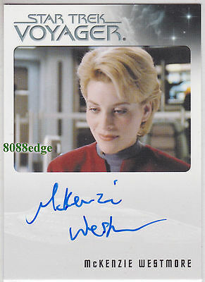 """2015 STAR TREK VOYAGER AUTO: McKENZIE WESTMORE -AUTOGRAPH """"PASSIONS - SHERIDIAN"""""""