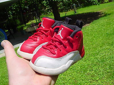 Air Jordans Retro 12 Red Baby Size 6C Awesome!!!