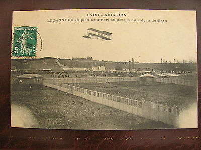 Carte Postale - BRON Lyon Aviation (Rhône) - Biplan Sommer en vol (N°41)