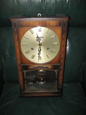 Rare Vintage Linden 31 Day Wall Clock- #8053 ~ Key & Pendulum ~ Made In Japan!