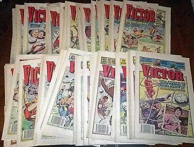 Collection of Fifty Two (52) Victor Comics From 1990 - Complete Year