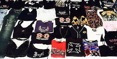 Mixed Ladies Lot Harley Davidson Biker Clothing Tops Vest Jeans Gloves Small 5