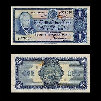 1968 Scotland British Linen Bank , £1 - » Cv $30 «