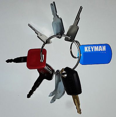 7 KEYS HEAVY EQUIPMENT / CONSTRUCTION IGNITION KEY SET-fits 100's of machines