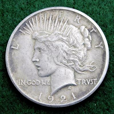 1921 U.s. Peace Dollar - Free Expedited Shipping And Handling!