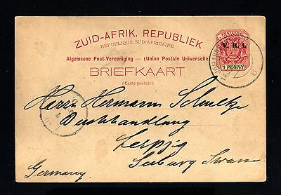 16244-SOUTH AFRICA-OLD POSTCARD JOHANNESBURG to LEIPZIG (germany) 1901.BRITISH