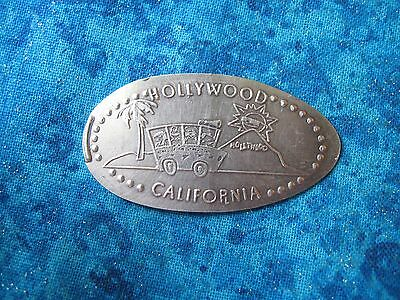 HOLLYWOOD CALIFORNIA COPPER Elongated Penny Pressed Smashed 26