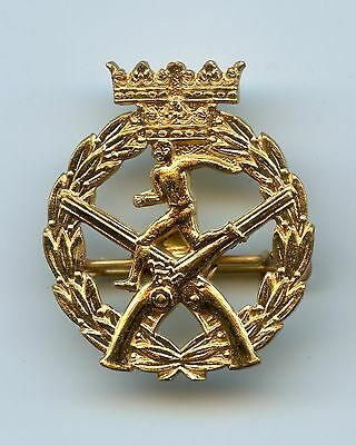 Sweden 1st Class Running Shooting Award Military Badge Nice Condition !!!