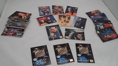 Complete 100 Card 1994 SkyBox Master Series Star Trek Collector's Trading Cards