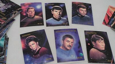 Complete 90 Card 1993 SkyBox Master Series Star Trek Collector's Trading Cards