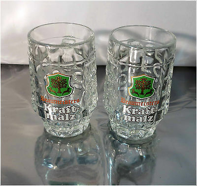 Set, Collectible Vintage 250ml. Beer Glasses, Braumeisters Kraftmalz