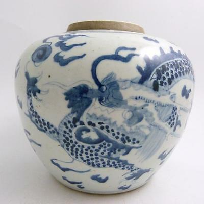 Chinese Blue And White Porcelain Jar, Dragon Amongst Clouds, 18/19Th Century