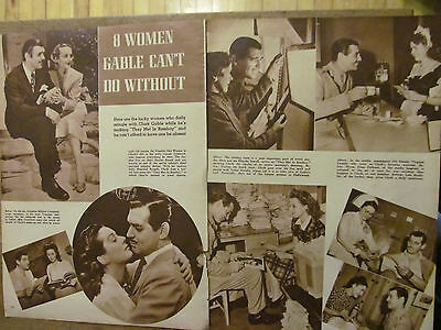 Clark Gable, Great Vintage Clipping, Ann Edmonds, Full Page Pinup
