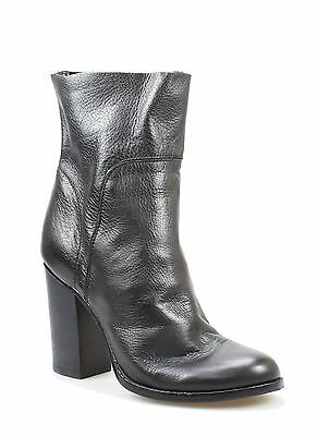 Max Studio NEW Black Shoes Size 6M Recall Ankle Leather Booties $278- #506