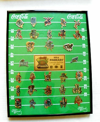 "1984 Limited Ed. ""coca-Cola ~ Monsters Gridiron"" Panther Vs Jaguars 28 Pin Set"