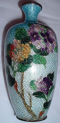 Antique - OLD 19th Century 1800s Japanese Cloisonne enameled over bronze  Vase