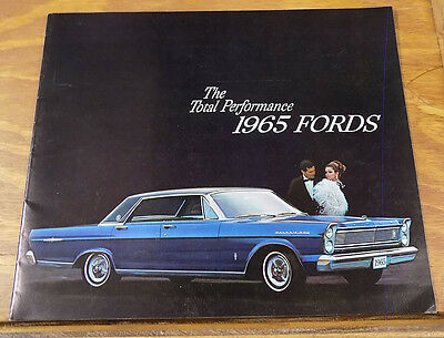 1965 Vehicle Brochure///FORD TOTAL PERFORMANCE Automobiles