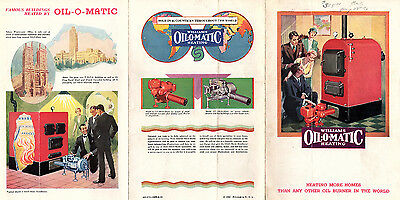 Vintage 1933 Oil Heating Brochure  WILLIAMS OIL-O-MATIC HEATING Scarce