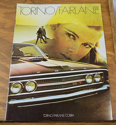 1969 Vehicle Brochure///FORD TORINO AND FAIRLANE and COBRA Automobiles