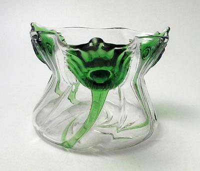 "Antique Art Nouveau Peacock Trails ""cairngorm"" Stourbridge Glass Vase Stuart"