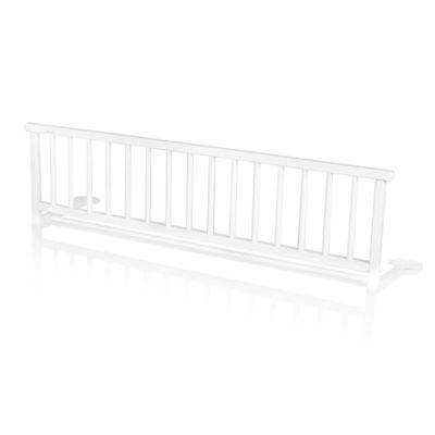 B#Baninni Bed Rail Guard Cot Bed Safety Child Toddler Rocco White Wood BNBTA015-