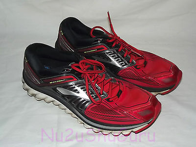 BROOKS Glycerin 13 Red/Black Running Sneakers Mens Size 11 D