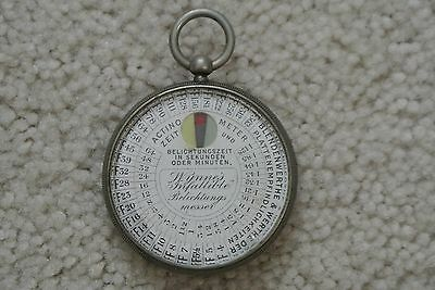 Vintage Wynne's Infallible Photographic Exposure Meter Pocket Watch Germany